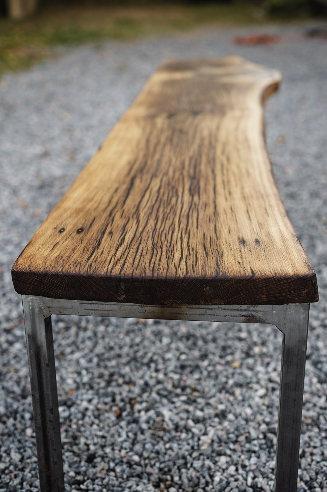 Hall bench in Oak #010