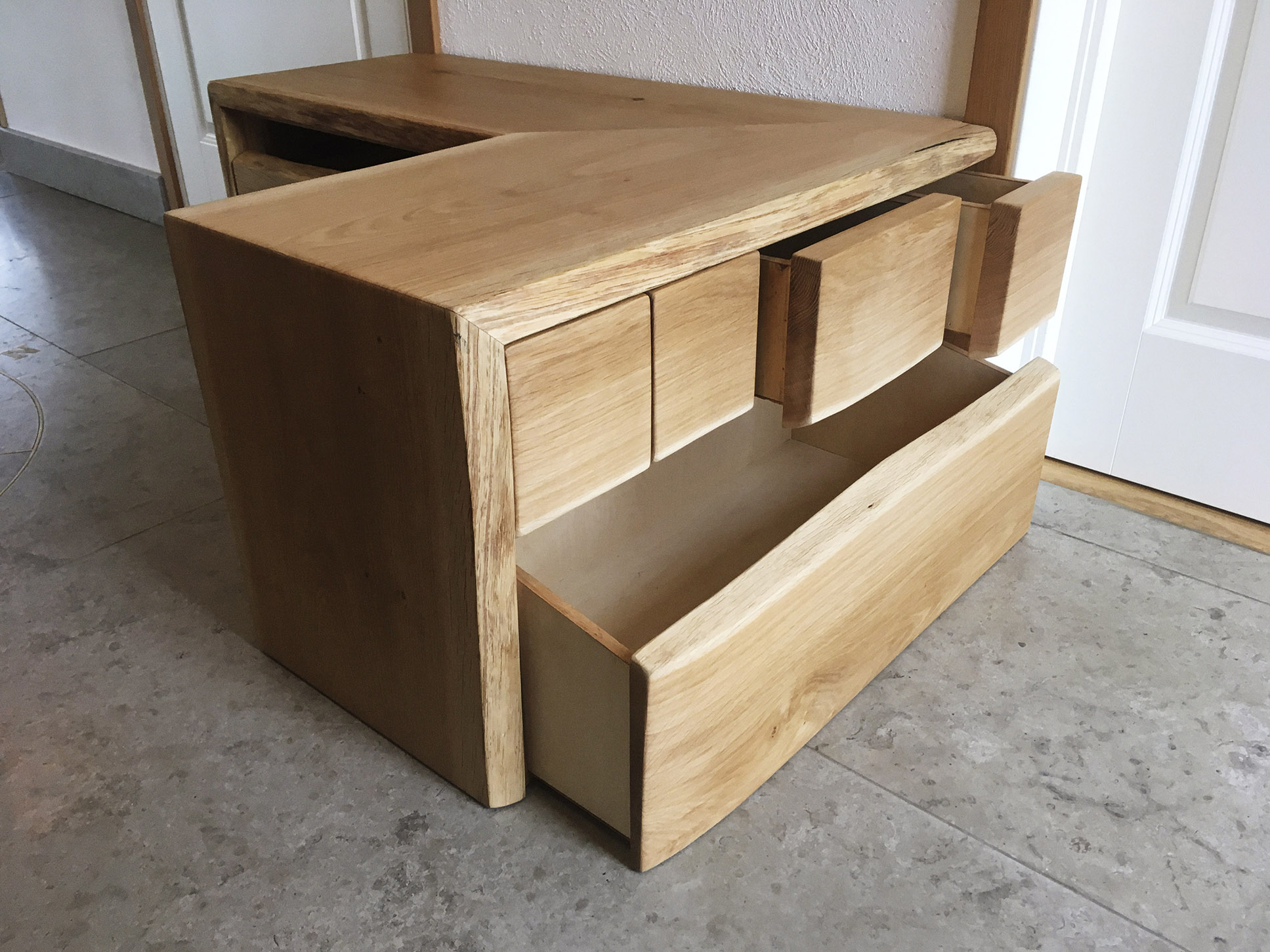 Hall Bench with draws #016